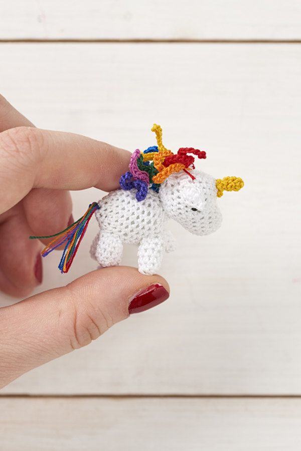 Micro crochet rainbow unicorn pdf crochet pattern -Mollie Makes ...