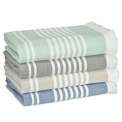 Leila Stripe Bath Towels Elevate The Look Of Your Bath With