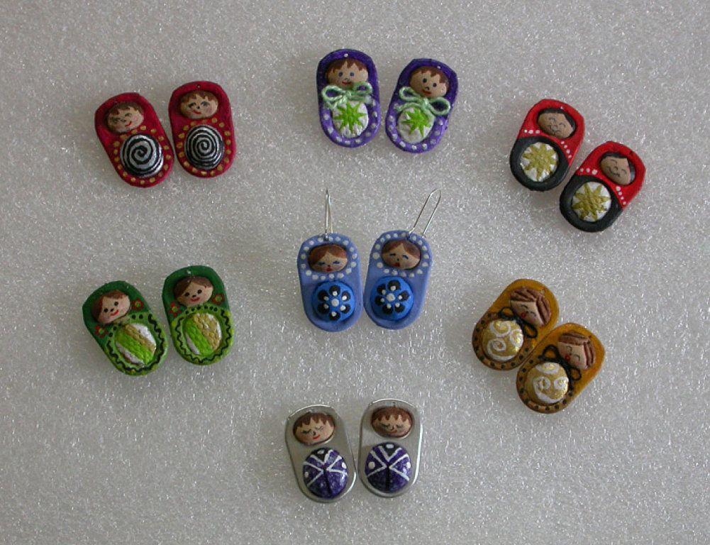Broches de matriuskas con anillas de latas pop tabs - Manualidades faciles con latas ...