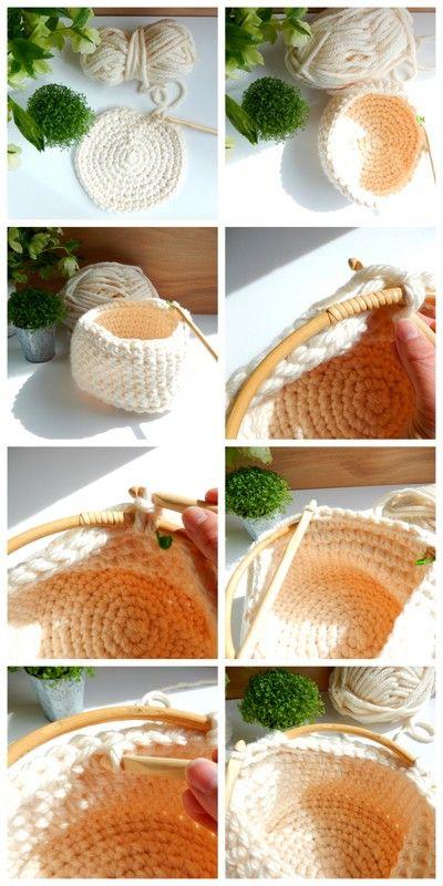 diy un panier style scandinave au crochet 2 mon carnet pinterest style scandinave. Black Bedroom Furniture Sets. Home Design Ideas