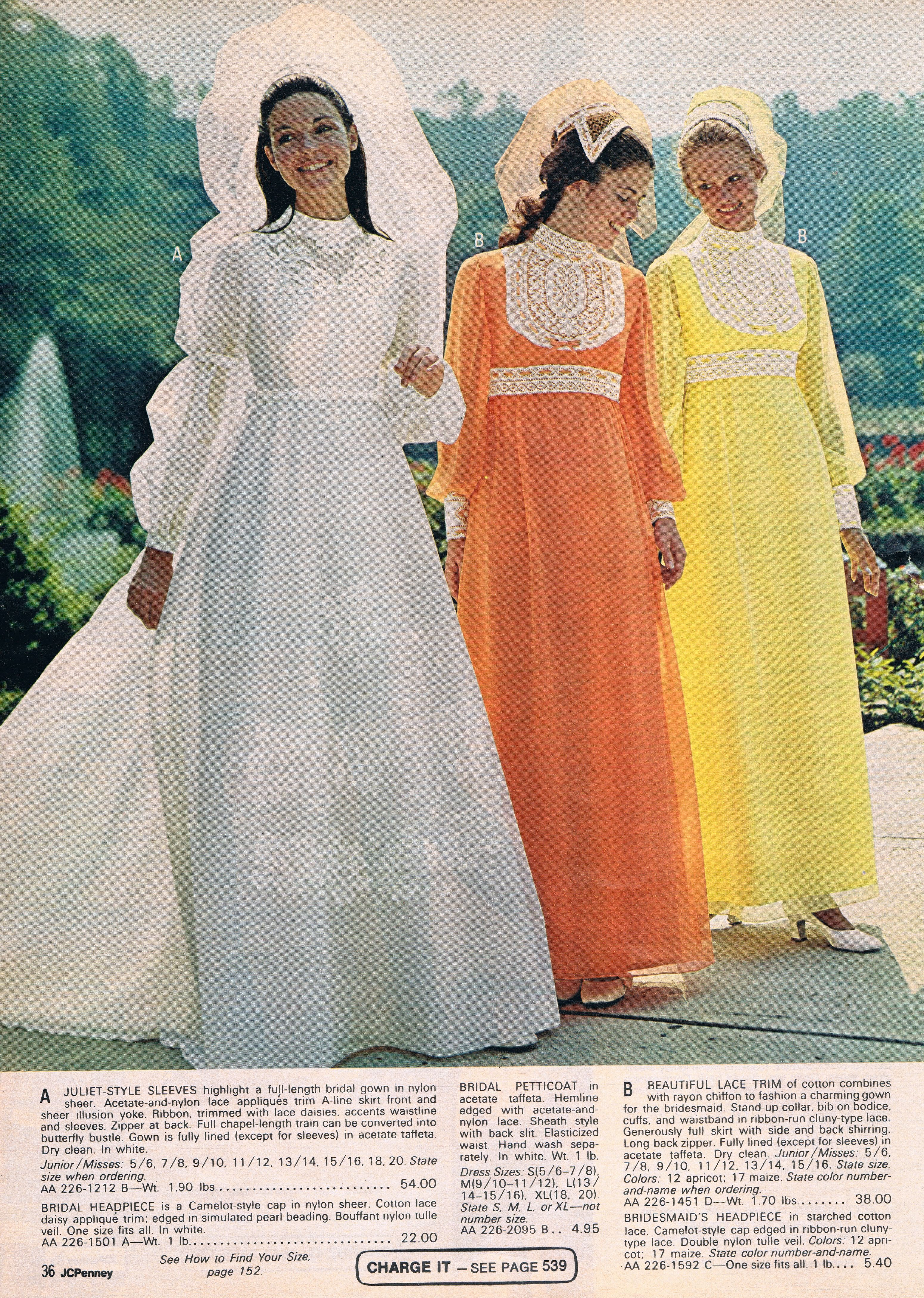 Penneys catalog 1972 vintage bridal and bridesmaid dresses 1960 penneys catalog 1972 vintage wedding gowns1970s weddingvintage bridalvintage ombrellifo Images