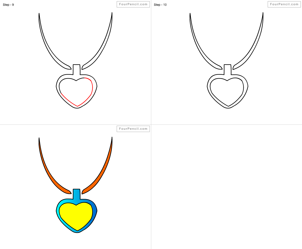 How To Draw Necklace For Kids Step By Step Drawing Tutorial, Draw Necklace  For Kids