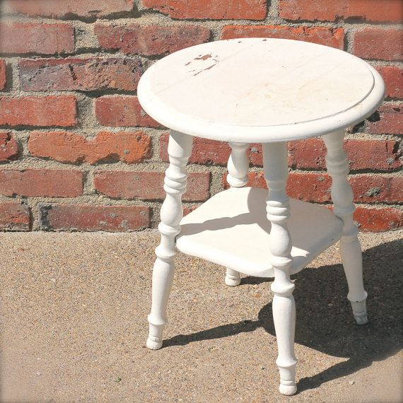 Round Farmhouse stool or side table by theNelleHouse on Etsy, $62.00