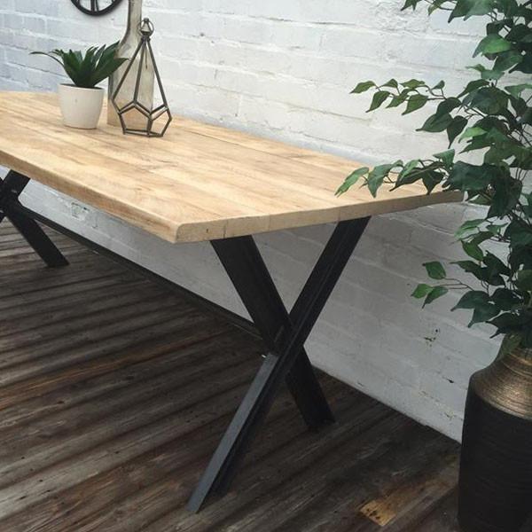 Oldman Industrial Reclaimed Wood Desk Dining Table Legs Dining