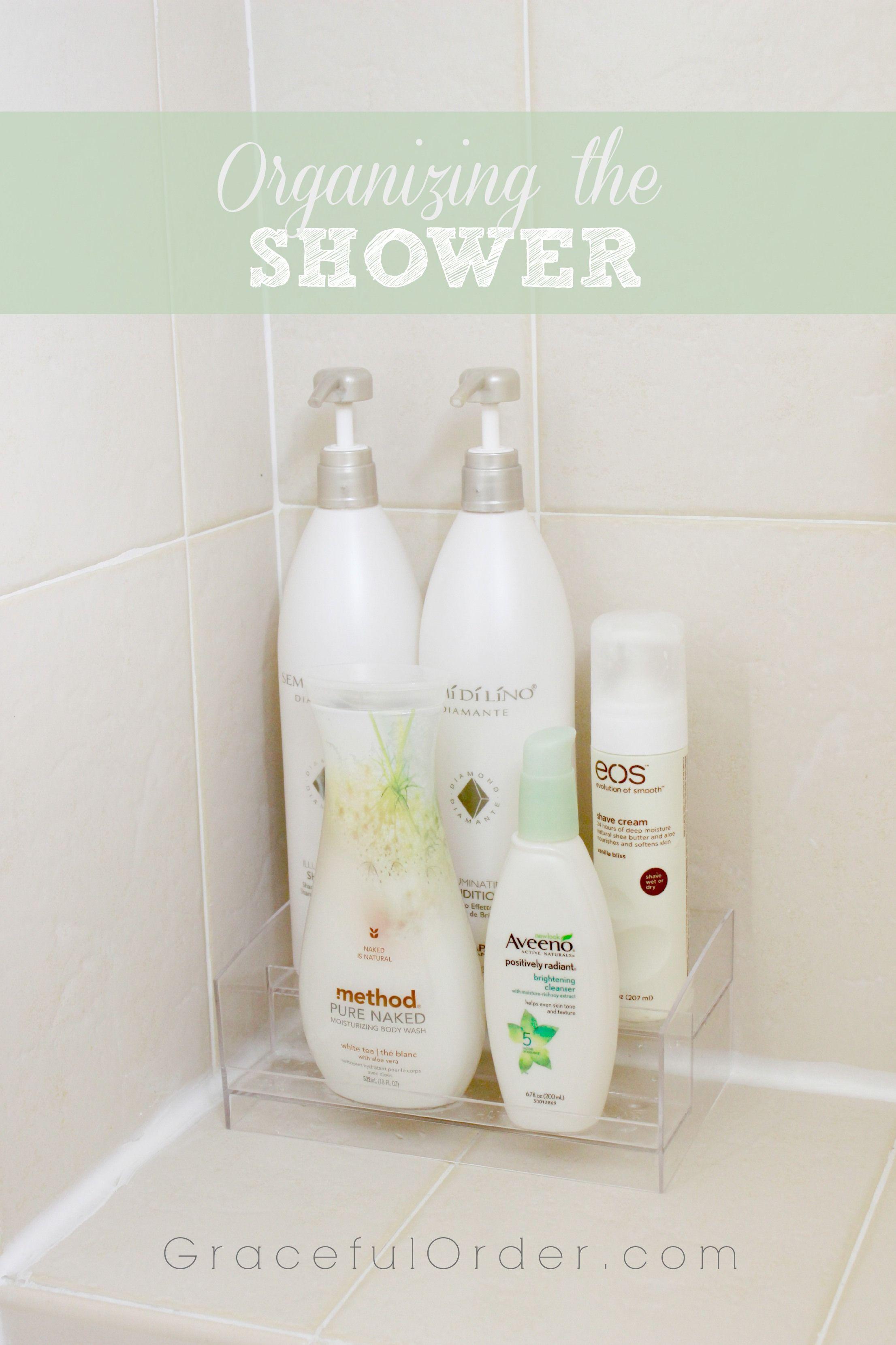 Organizing the Shower Area | Organization | Pinterest | Organizing ...