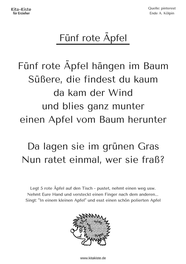 Herbst kitakiste herbst kinder gedichte gedicht for Angebote kindergarten herbst