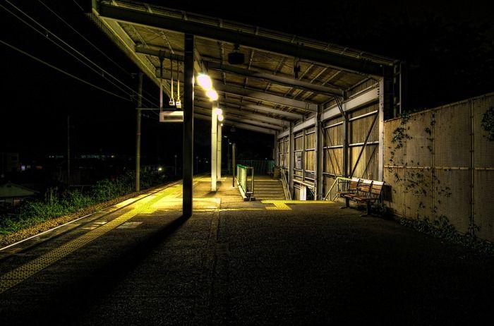 線路hdr 燃えろ Hdr 田舎 風景 風景 夜 散歩
