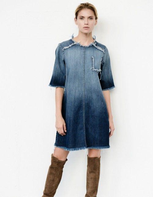 Sukienka jeansowa o fasonie litery A