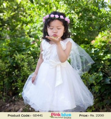 White Princess First Birthday Dress