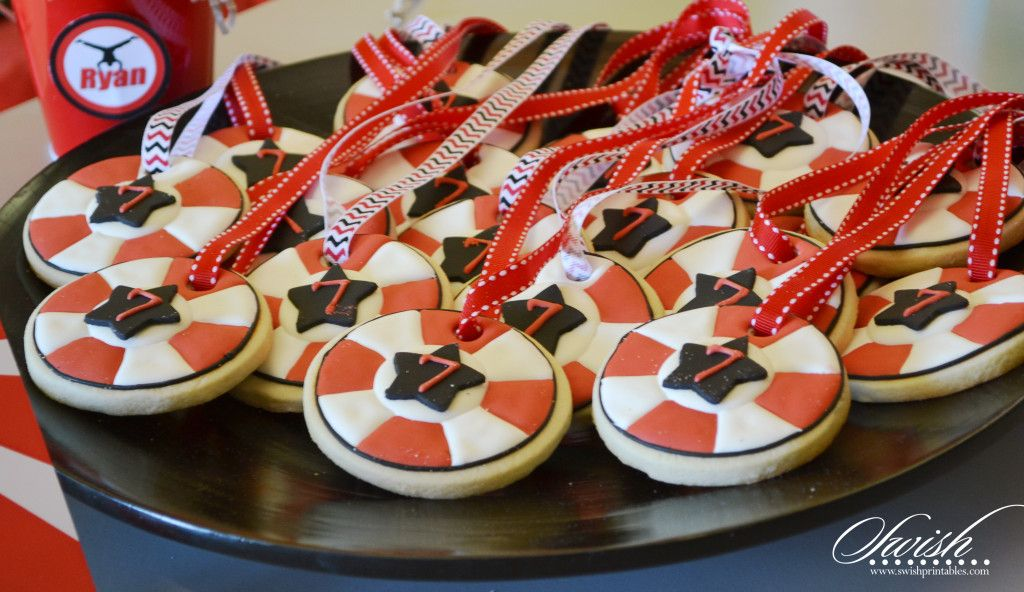 American Ninja Warrior Party Favors Edible Cookie