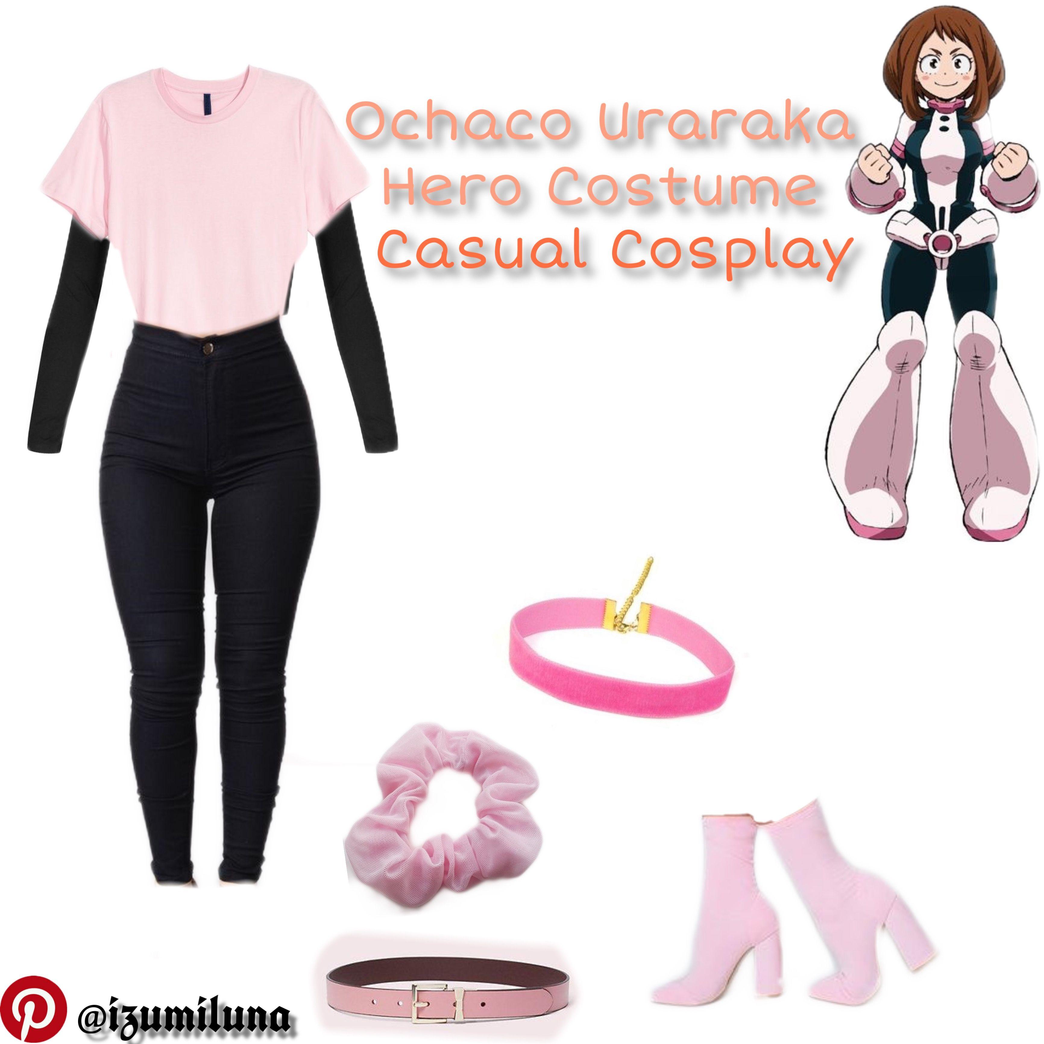 Ochaco uraraka hero costume casual cosplay casual
