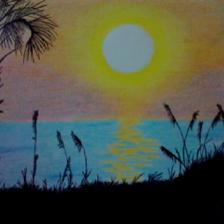 Sunset My Art Art Color Pencil Art Pencil Art