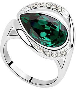 Green Ring With Swarovski® Crystals