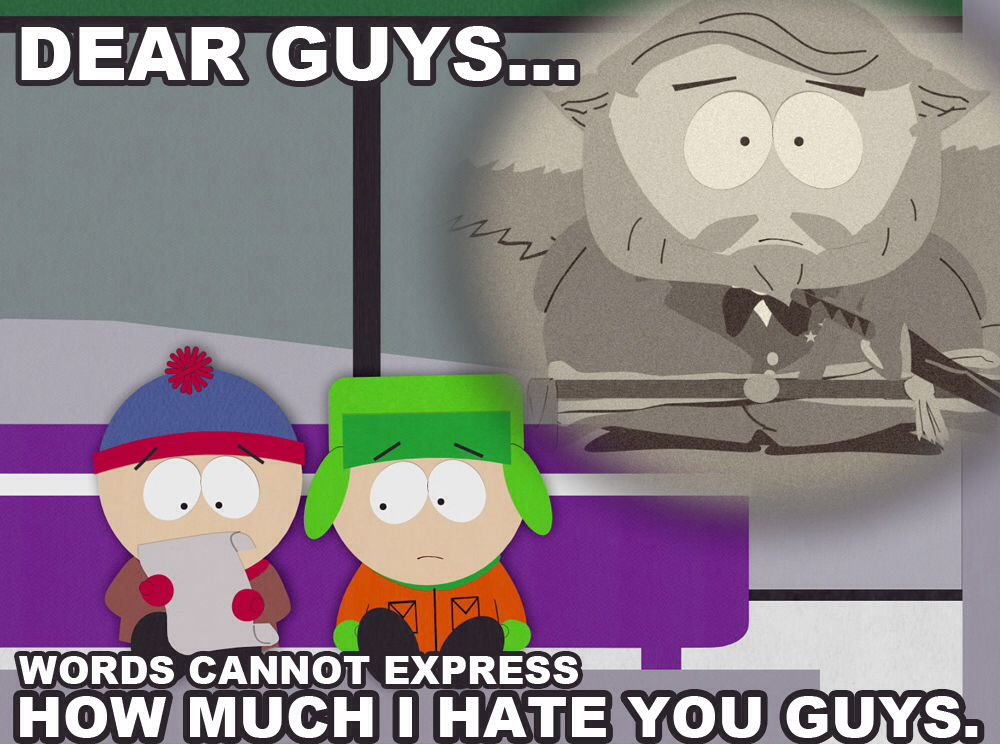 Dear Guys South park, Thomas and friends, Ice age movies