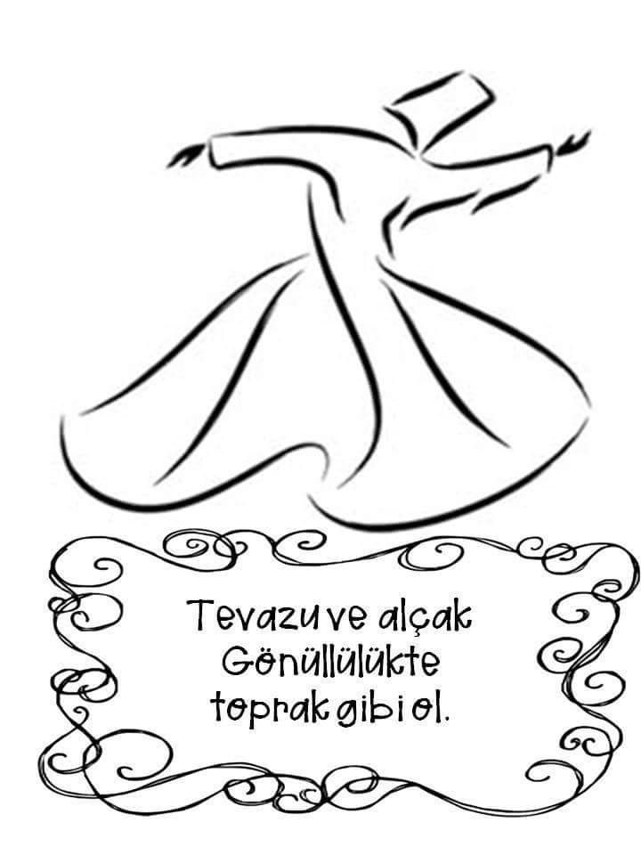 Dilek Ozdogan Adli Kullanicinin Mevlana Panosundaki Pin Boyama Sayfalari Islam Hat Sanati Egitim