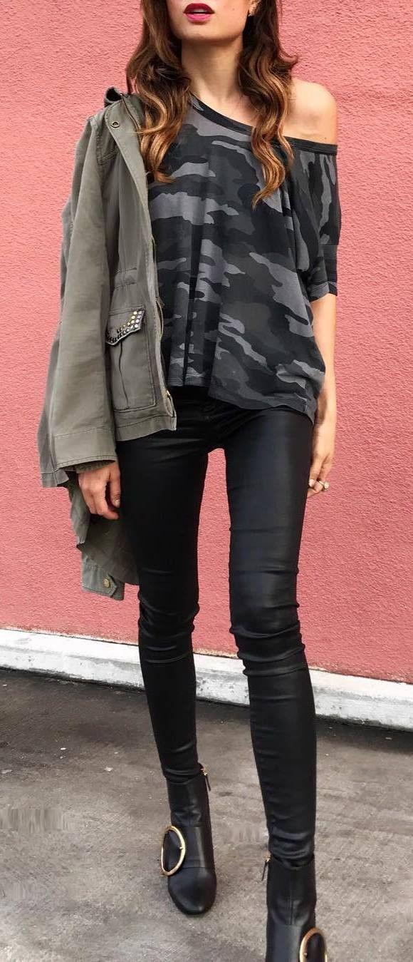 ootd jacket + top + skinnies