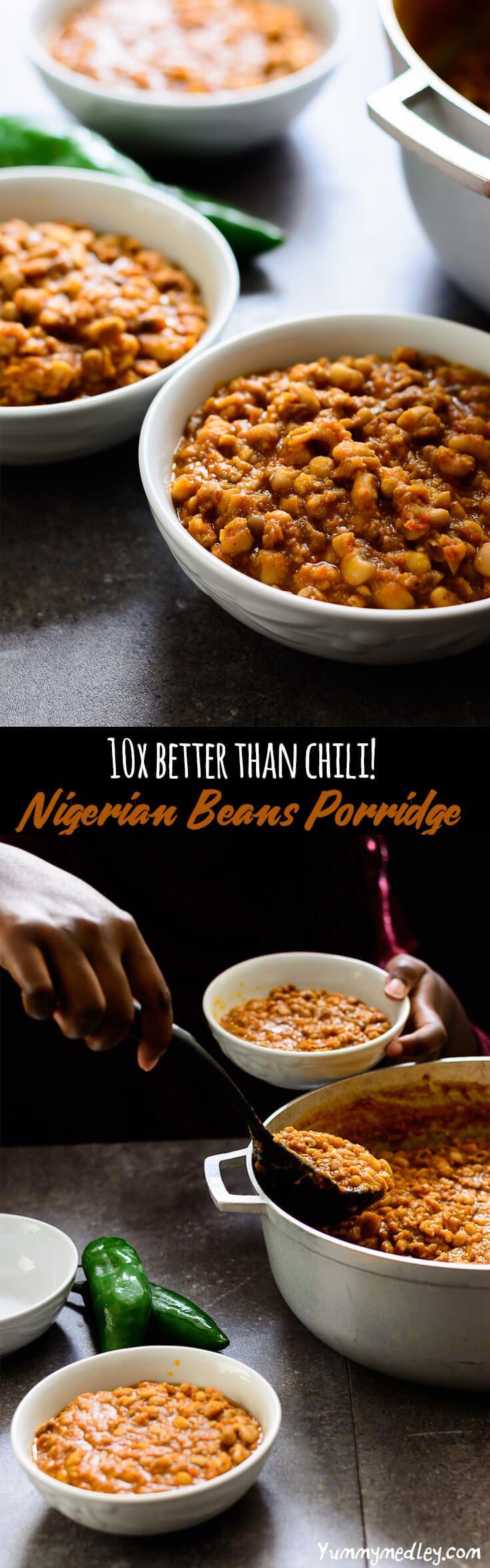 Nigerian Beans Porridge Recipe Food, Food recipes