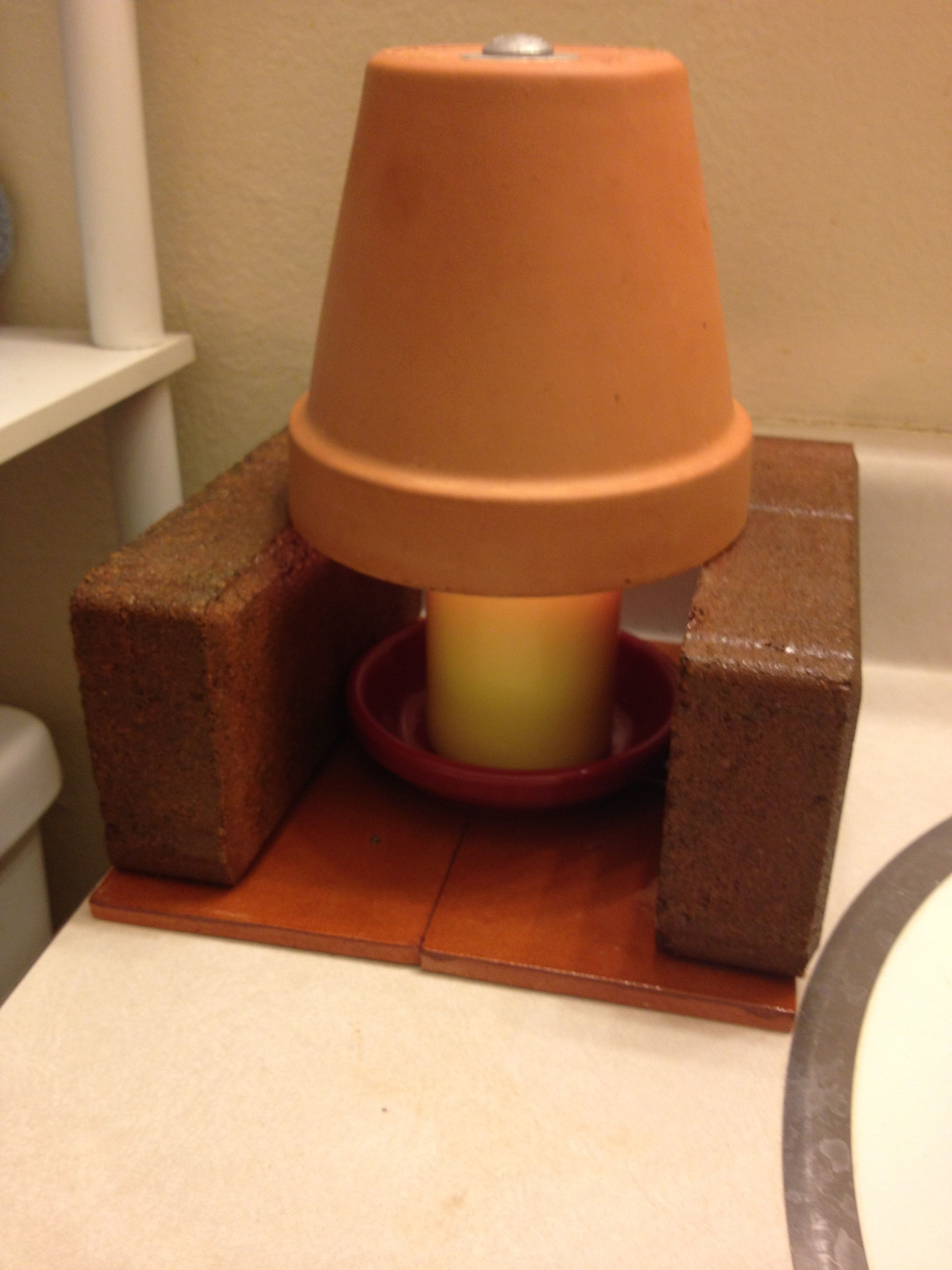 Flower pot candle heater & Flower pot candle heater | DIY heater | Candle heater Diy heater ...