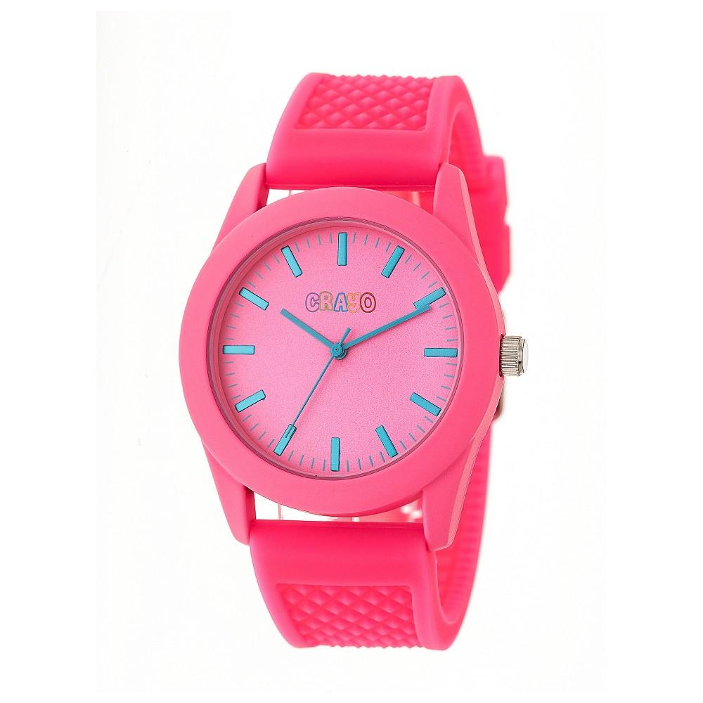 Women's Crayo Storm Quartz Strap watch - Hot Pink, Neon Pink