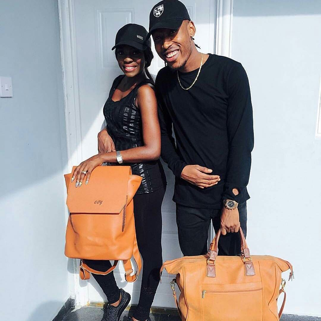 Mr 2kay X Beverly Osu looking stylish with their bags from @coz_designs. Go get yourself one! Also anticipate the #SummerFling collection to be released this July  #CozDesigns #Steevane #SV