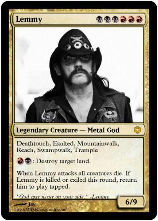 Magic the Gathering's best card ever! LEMMY!!! | magic the gathering