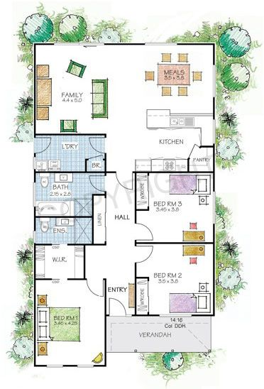 The Fitzroy floor plan - Paal Kit Homes offer easy to build steel ...