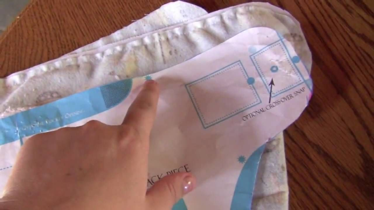 How to sew a cloth diaper-Shows the soaker pad sewn to inside layer