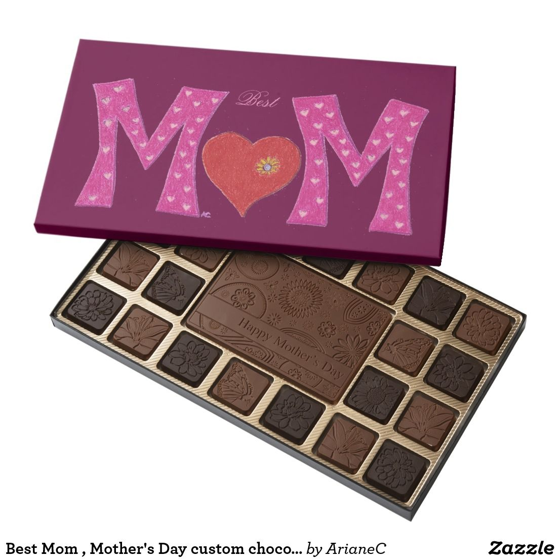 Best Mom , Mother's Day custom chocolate box | Mothers, Mother's ...