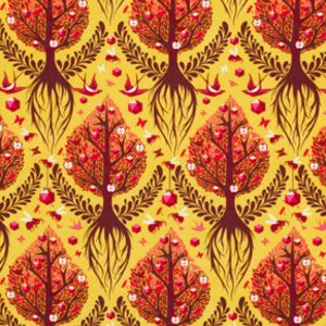 Tula Pink - The Birds and the Bees - Tree of Life in Honey  Gorgeous fabric. Must find a worthy project!