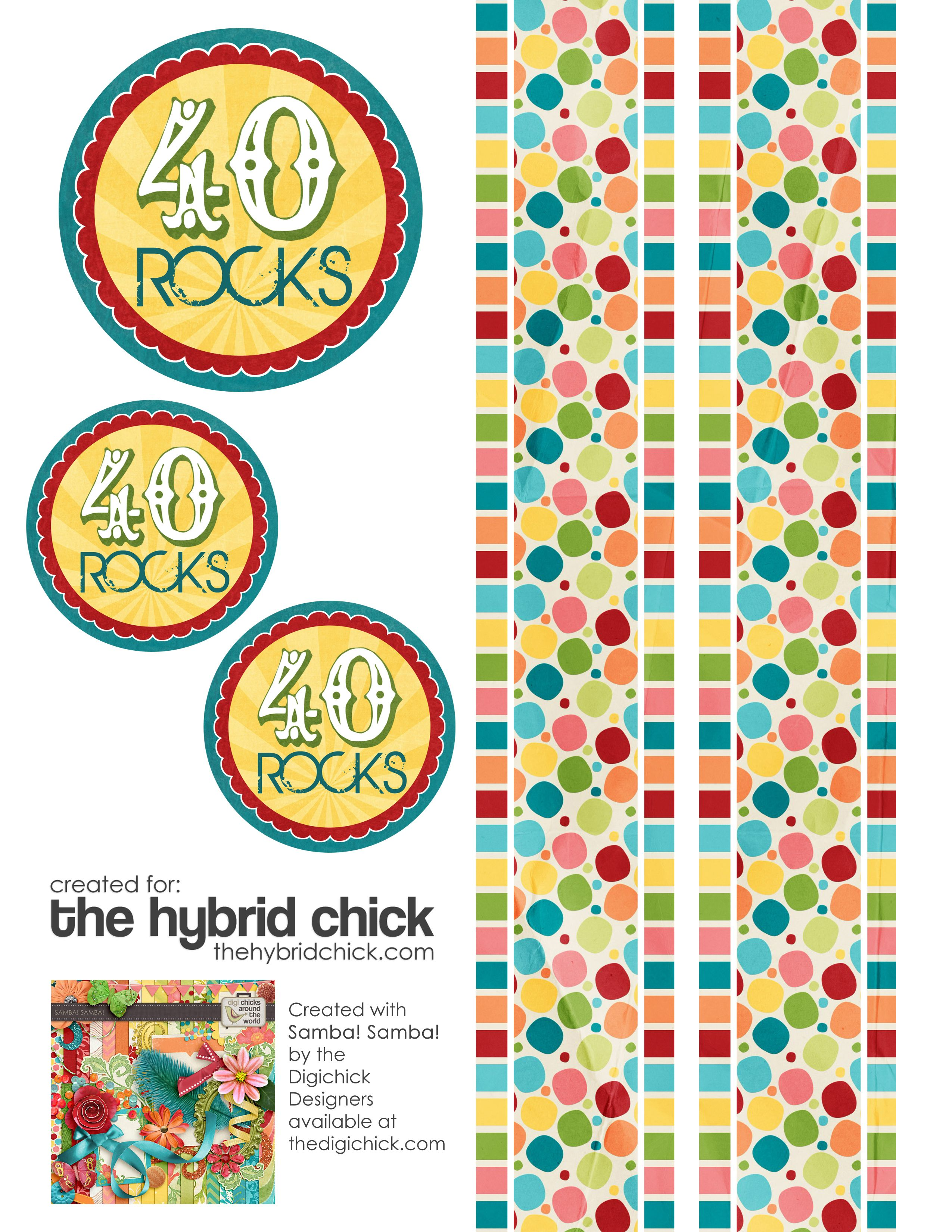 40 Rocks Birthday Gift With Free Printable 40th Birthday Centerpieces 40th Birthday Parties 40th Bday Ideas