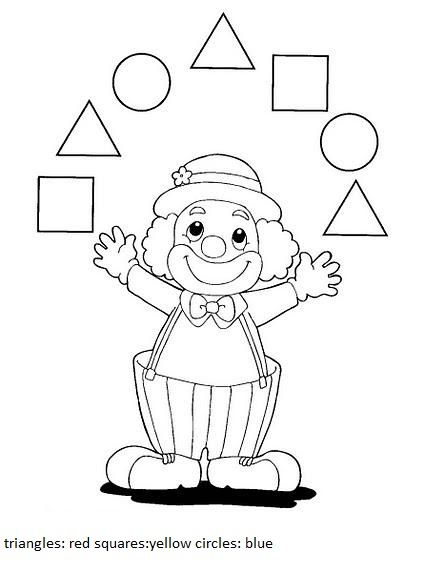how to make a clown using geometric shapes