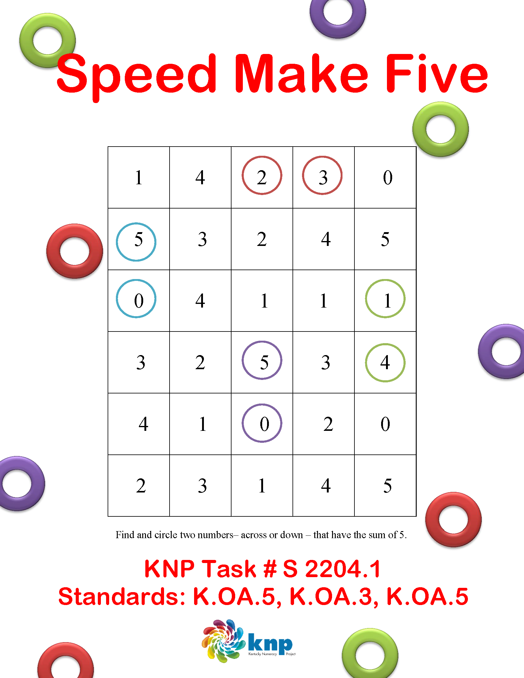 Speed Make Five