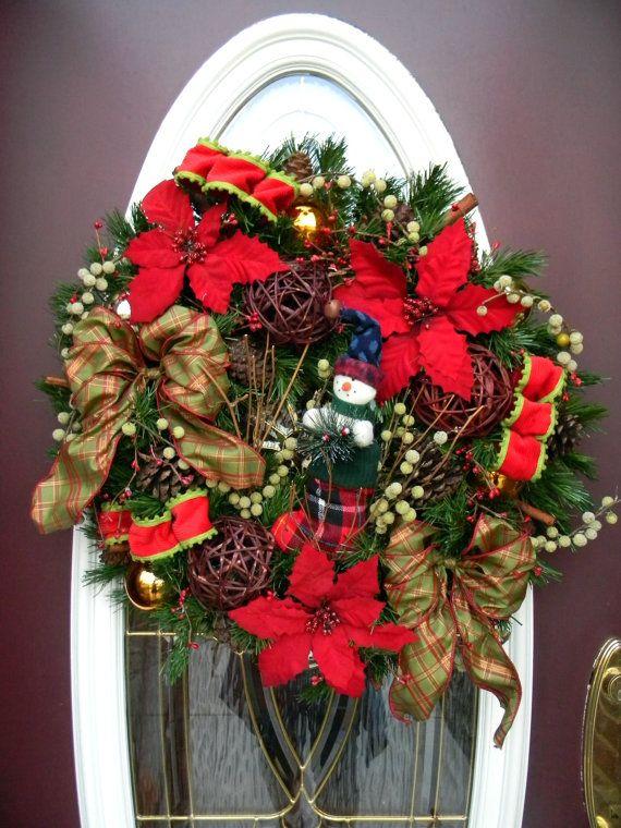Christmas Door Wreath Decor\ - christmas clearance decor