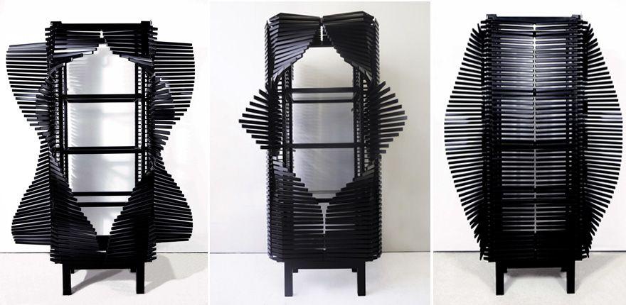 Samurai Cabinet by Sebastian Errazuriz