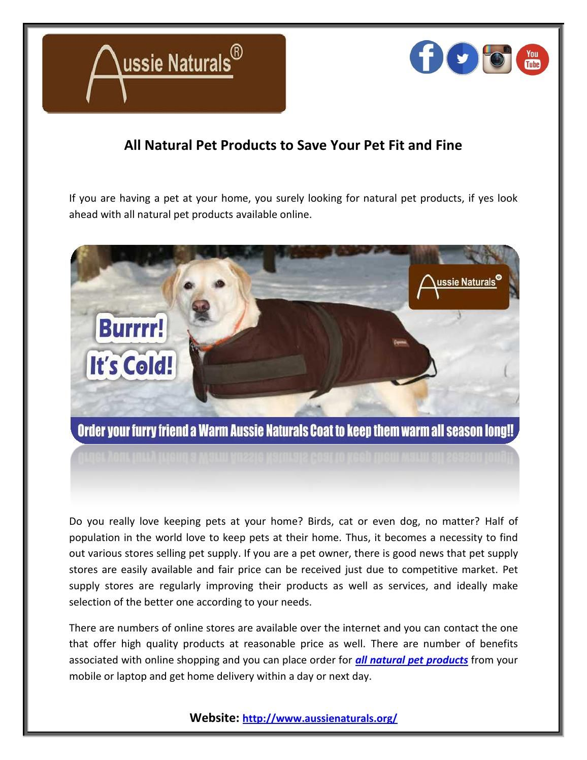 All Natural Pet Products To Save Your Pet Fit And Fine Natural