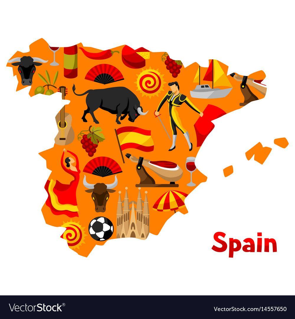 Map Of Spain Vector Free.Image Result For Spain Map Arham Map Of Spain Spain Design