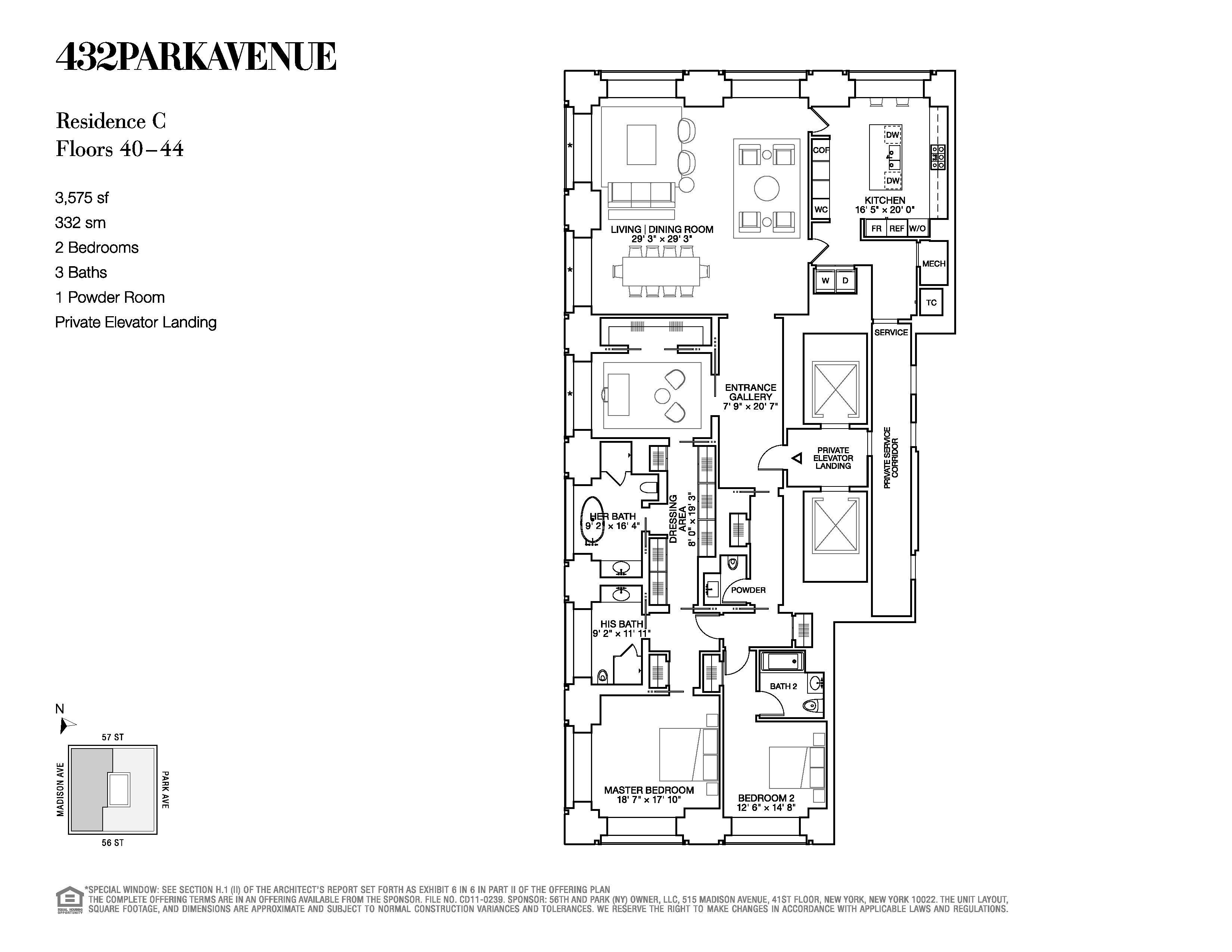 432 park avenue floor plans new york usa floor plans