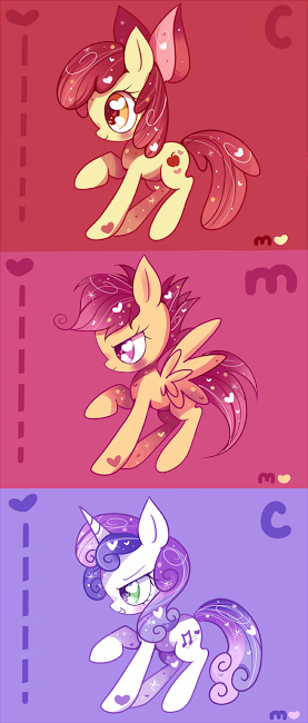 Cutie Mark Crusaders; apple bloom,scootaloo and sweetie belle
