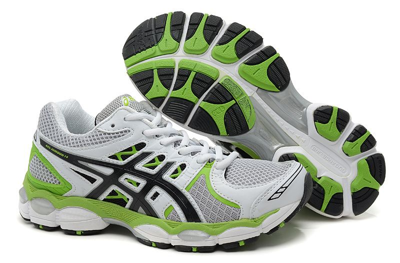 Asics Gel Nimbus 14 Men S White Grey Black Green Running Shoes