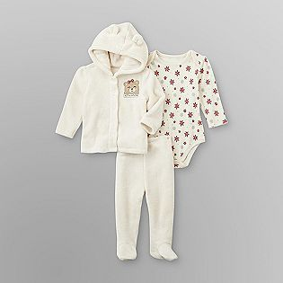 small wonders infant girl s sleeper set baby s first christmas