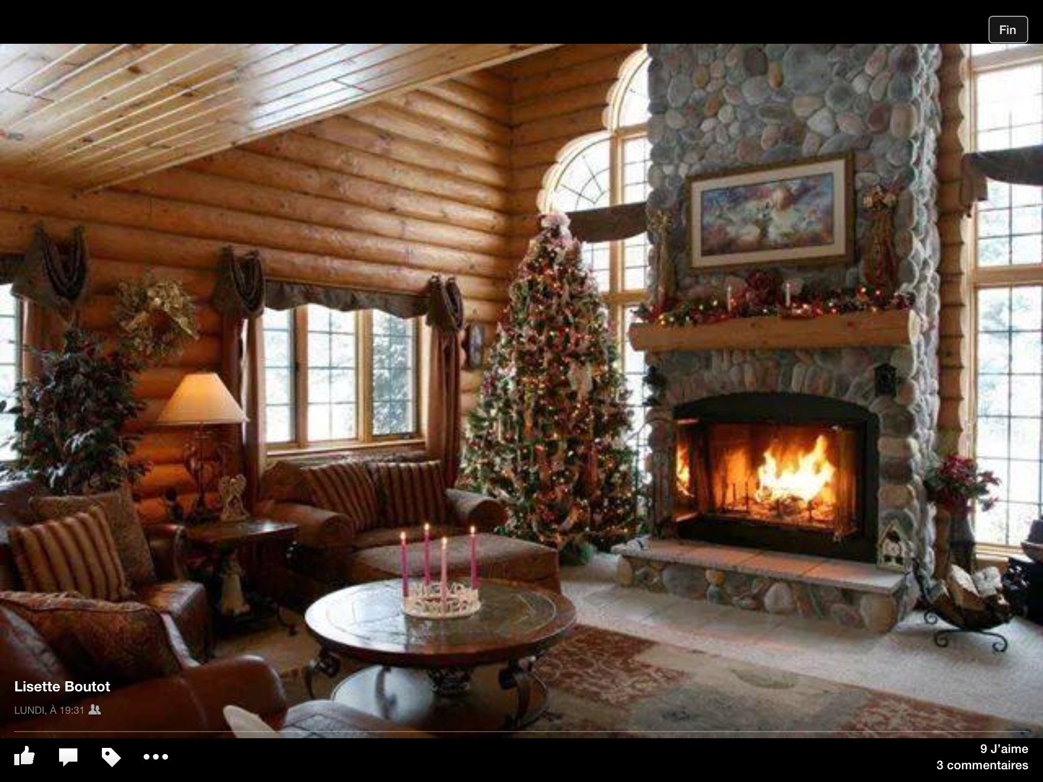 Decorations noel interieur chalet cabin sweet cabin for Cheminee interieur moderne