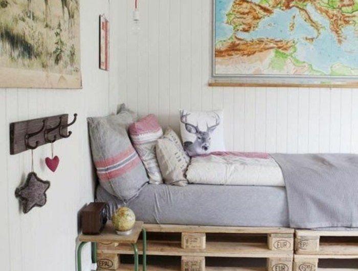 comment faire un lit en palette - 52 idées à ne pas manquer   diy