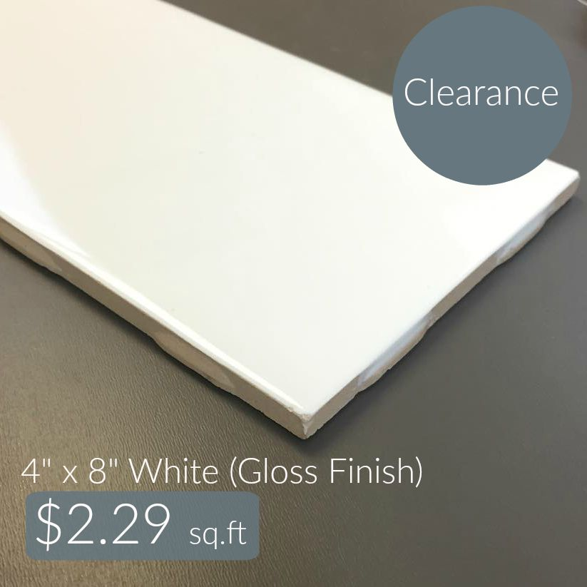 Clearance Metro Subway Tile - White 4\