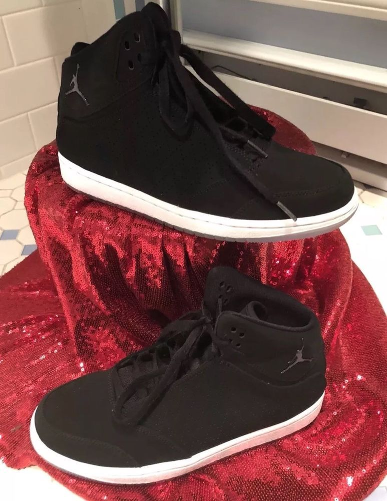 1edbdcb82a0149 Nike Air Jordan 1 Flight 5 Premium Men s Size 8 Black White Gum Bottom EUC
