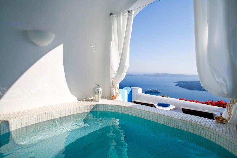 Private indoor pool suites  Nefeli Suite | Dreams Luxury Suites | Imerovigli, Santorini ...