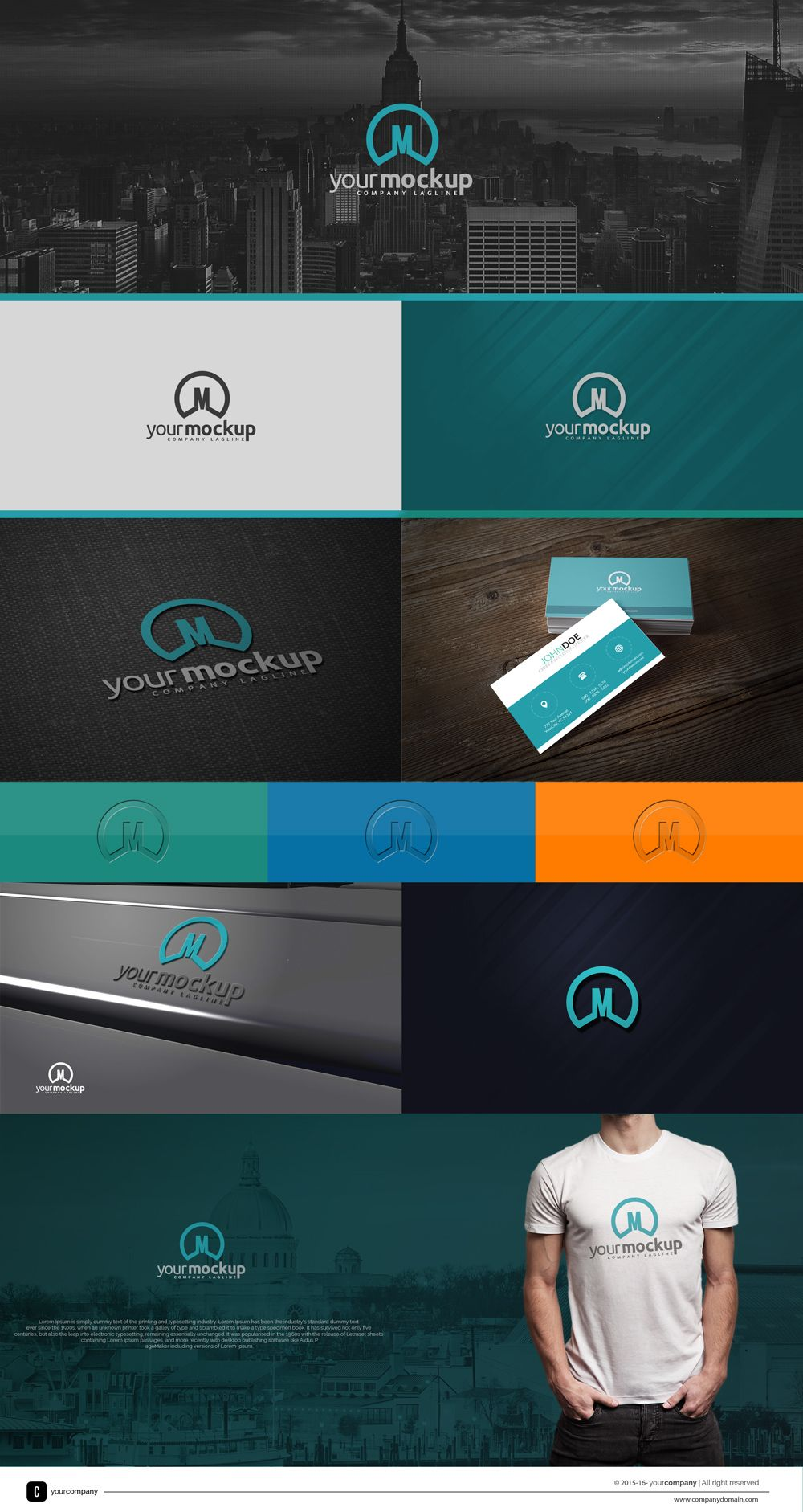 free logo presentation template for quick logo mock up creation, Powerpoint templates