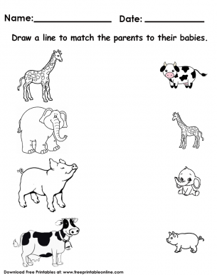 animals matching worksheet free printable worksheets matching worksheets school worksheets. Black Bedroom Furniture Sets. Home Design Ideas