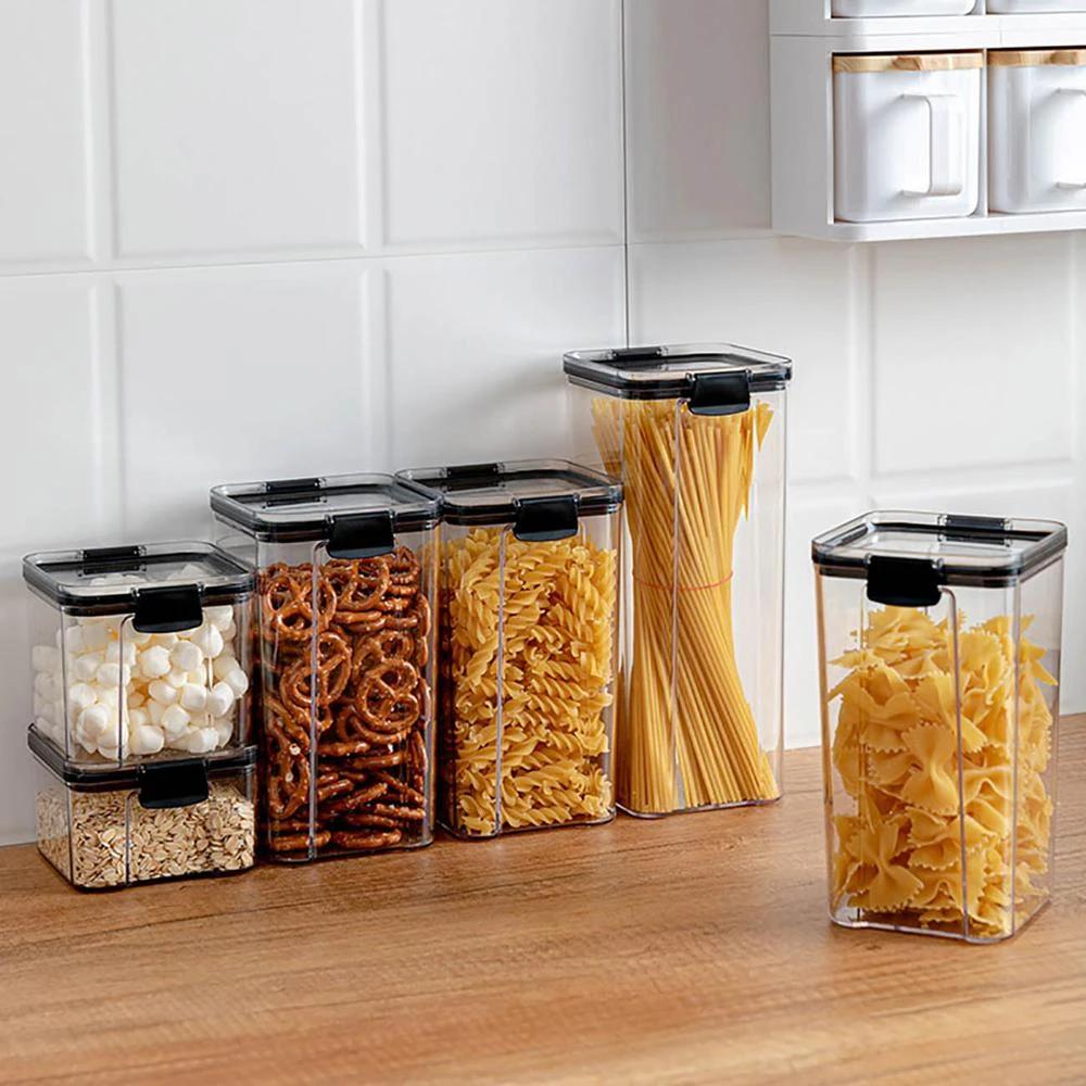 Boite De Rangement En Plastique Pour Cuisine Vivre Sans Dechet Conteneurs De Stockage D Aliments Boite Rangement Plastique Rangement Plastique