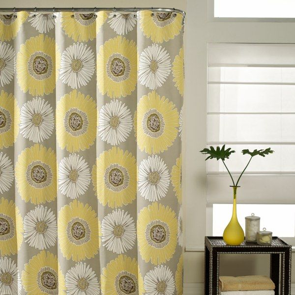 Bloom 72 X 72 Fabric Shower Curtain Bed Bath Beyond Saw This At Tj Maxx The Other Da Yellow Shower Curtains Gray Shower Curtains Fabric Shower Curtains