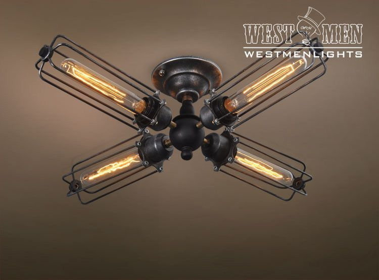 ceiling fans with four lights. Simple Four 2015 Industrial Iron Light DIY Ceiling Lamp Chandelier U2013  Westmenlightselectric Lighting Designer Home Accents Supplier With Fans Four Lights S
